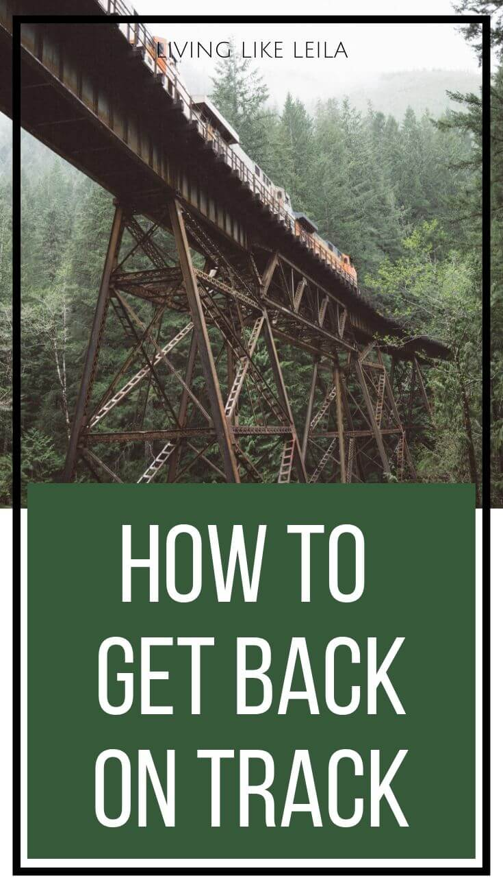 Whether you've fallen off track due to a setback, a vacation, or getting sick, this post will guide you on how to get back on track and into the swing of things. www.LivinglikeLeila.com