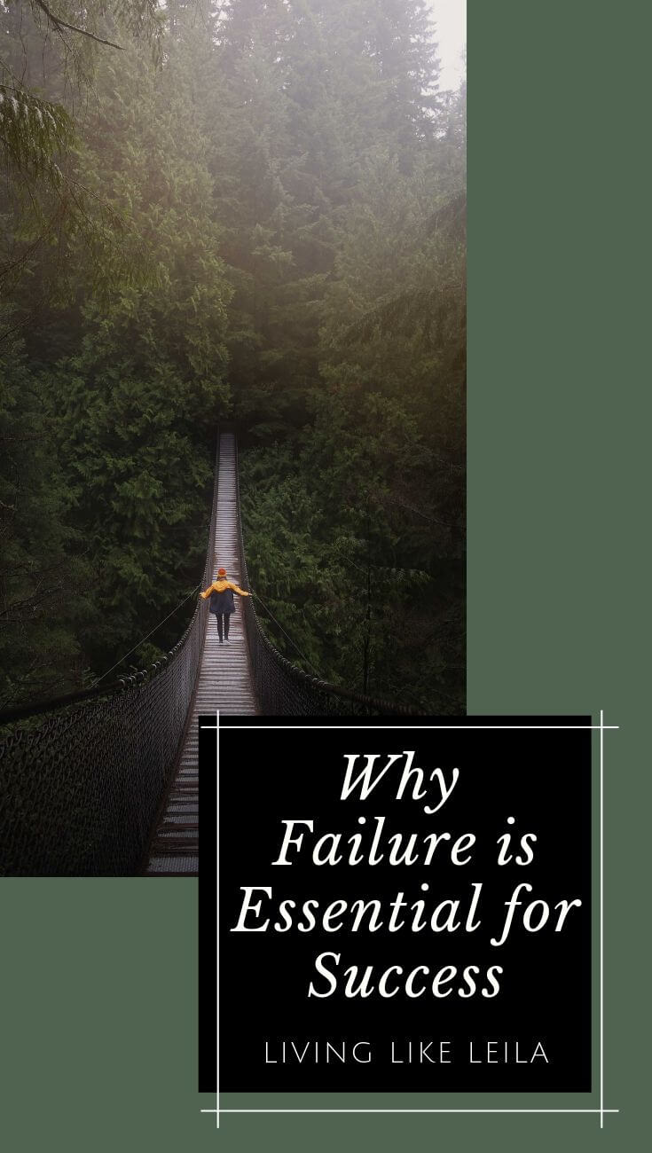 Failure sucks, but it can be one of the best things for your success. Read about why failure is essential to your success, and what to do each time you fail, in order to overcome it quickly. www.LivinglikeLeila.com